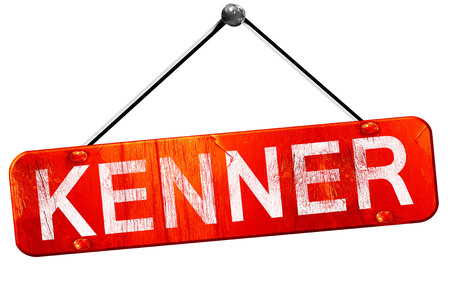 hanging sign: kenner, 3D rendering, a red hanging sign Stock Photo
