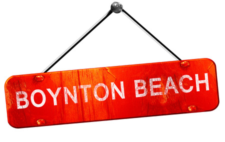 boynton beach, 3D rendering, a red hanging sign 版權商用圖片