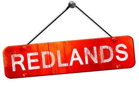 hanging sign: redlands, 3D rendering, a red hanging sign