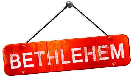 bethlehem: bethlehem, 3D rendering, a red hanging sign