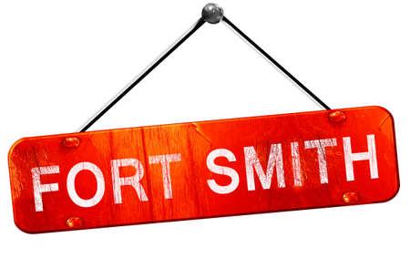 smith: fort smith, 3D rendering, a red hanging sign