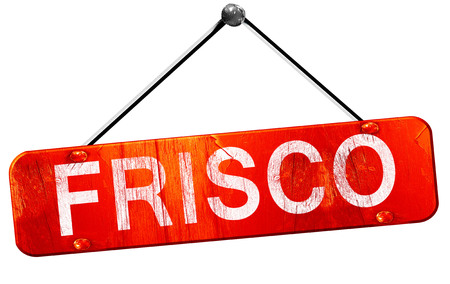 frisco: frisco, 3D rendering, a red hanging sign