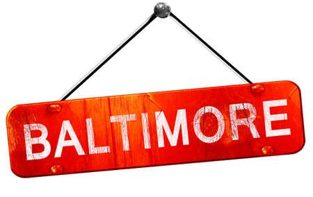 baltimore: baltimore, 3D rendering, a red hanging sign