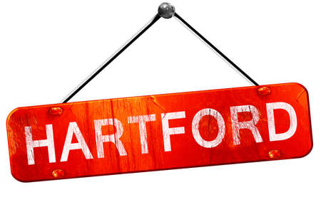 hartford: hartford, 3D rendering, a red hanging sign