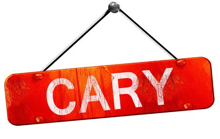 cary: cary, 3D rendering, a red hanging sign