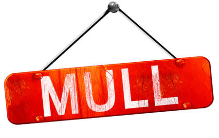 mull: Mull, 3D rendering, a red hanging sign Stock Photo