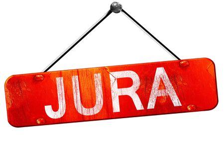 jura: Jura, 3D rendering, a red hanging sign