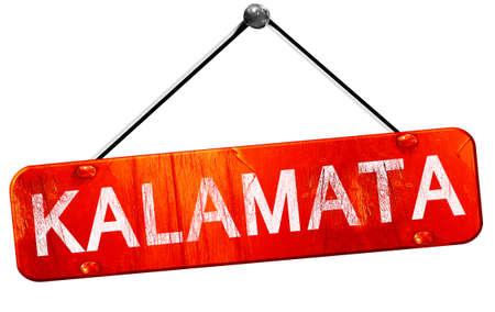 kalamata: Kalamata, 3D rendering, a red hanging sign
