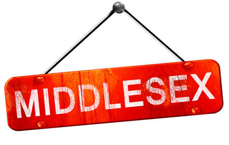middlesex: Middlesex, 3D rendering, a red hanging sign