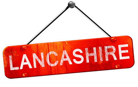 lancashire: Lancashire, 3D rendering, a red hanging sign