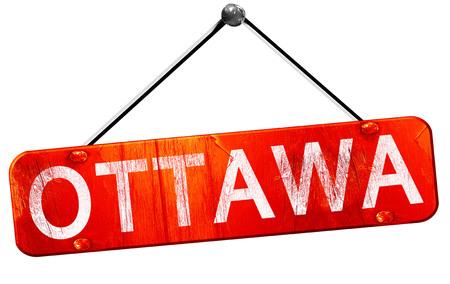 ottawa: Ottawa, 3D rendering, a red hanging sign