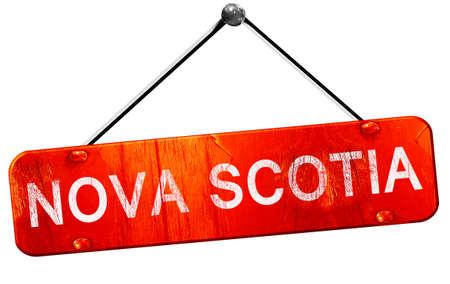 scotia: Nova scotia, 3D rendering, a red hanging sign