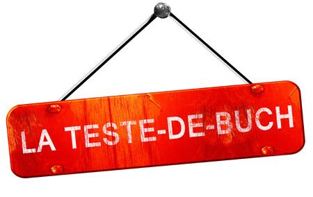 buch: la teste-de-buch, 3D rendering, a red hanging sign