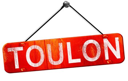 toulon: toulon, 3D rendering, a red hanging sign Stock Photo