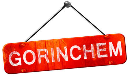 gorinchem: Gorinchem, 3D rendering, a red hanging sign