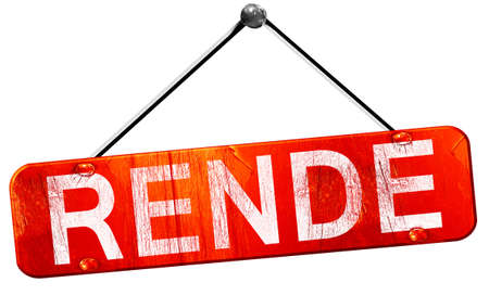 rende: Rende, 3D rendering, a red hanging sign Stock Photo