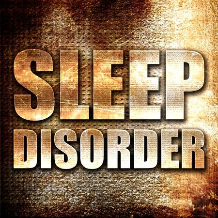 sleep disorder: sleep disorder, 3D rendering, metal text on rust background