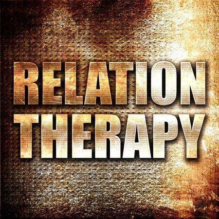 convivencia familiar: terapia de relación, 3D, texto del metal en fondo del moho Foto de archivo
