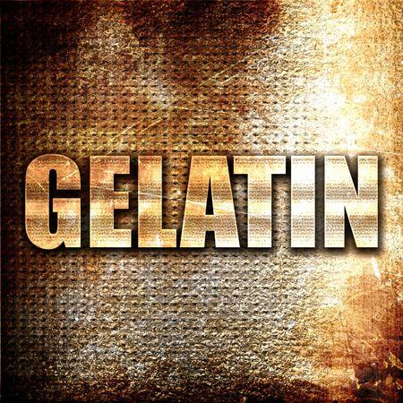 gelatina: gelatina, 3D, texto del metal en fondo del moho