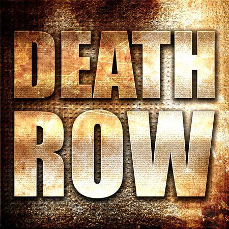 oracion: corredor de la muerte, 3D, texto del metal en fondo del moho