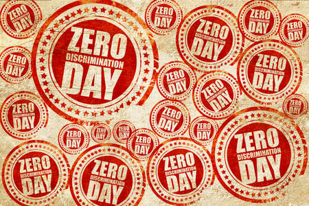 parity: zero discrimination day, red stamp on a grunge paper texture