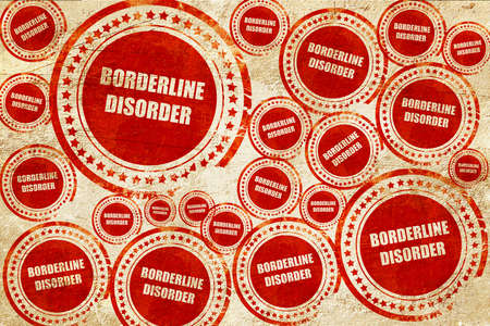 borderline: Borderline sign background with some soft smooth lines, red stamp on a grunge paper texture