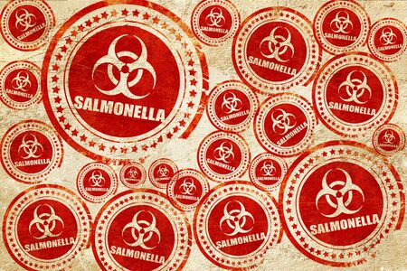 salmonella: Salmonella concept background with some soft smooth lines, red stamp on a grunge paper texture
