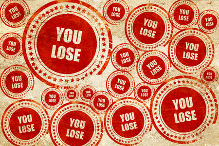 jobless: you lose, red stamp on a grunge paper texture Stock Photo
