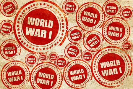 world war 1: World war 1 background with some smooth lines, red stamp on a grunge paper texture