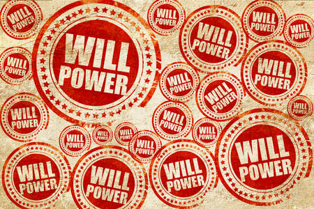willpower: willpower, red stamp on a grunge paper texture