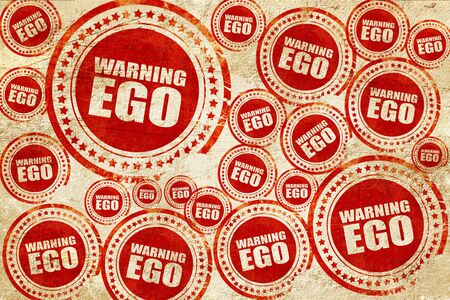 ego: warning ego, red stamp on a grunge paper texture Stock Photo