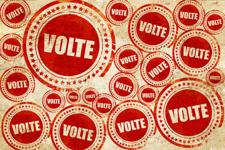 volte: volte dance, red stamp on a grunge paper texture Stock Photo
