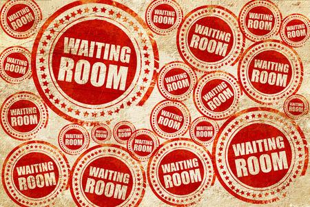 visitador medico: sala de espera, sello rojo en una textura de papel de grunge