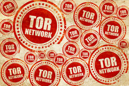 resisting: tor network, red stamp on a grunge paper texture