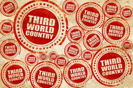 third world: third world country, red stamp on a grunge paper texture