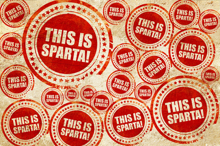 this: this is sparta, red stamp on a grunge paper texture