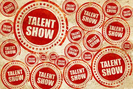 Talent show, rode stempel op een grunge papier textuur