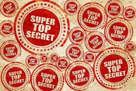 company secrets: super top secret, red stamp on a grunge paper texture
