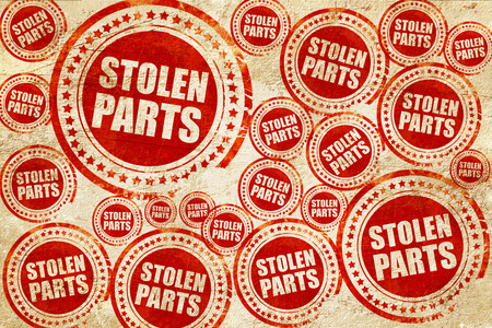 violence in sports: stolen parts, red stamp on a grunge paper texture