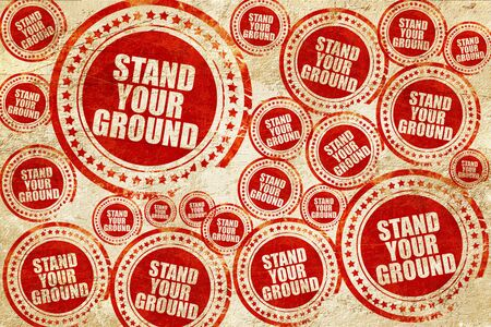 self harm: stand your ground, red stamp on a grunge paper texture