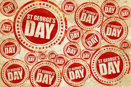 georges: st georges day, red stamp on a grunge paper texture Stock Photo