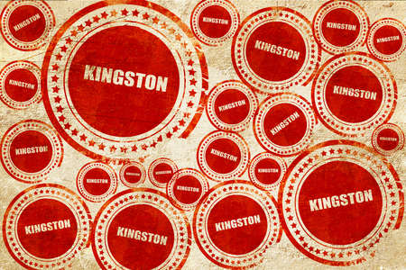 kingston: kingston, red stamp on a grunge paper texture Stock Photo
