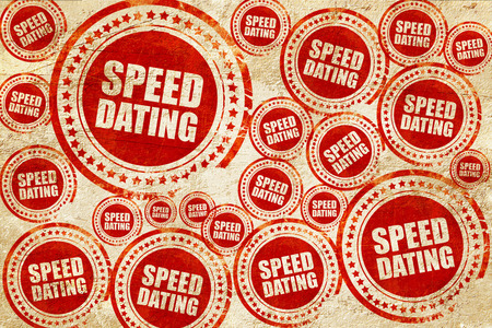speed dating: speed dating, red stamp on a grunge paper texture