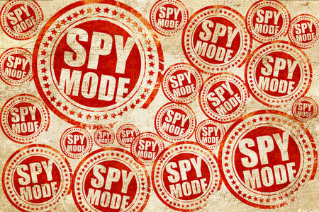 incognito: spy mode, red stamp on a grunge paper texture