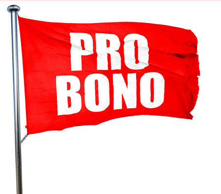 pro: pro bono, 3D rendering, a red waving flag Stock Photo