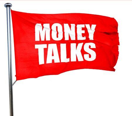 conversaciones: el dinero habla, 3D, agitar una bandera roja