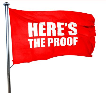 faa: heres the proof, 3D rendering, a red waving flag