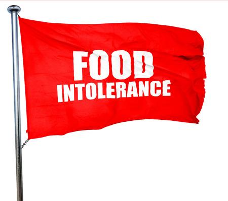 intolerancia: intolerancia a los alimentos, 3D, agitar una bandera roja