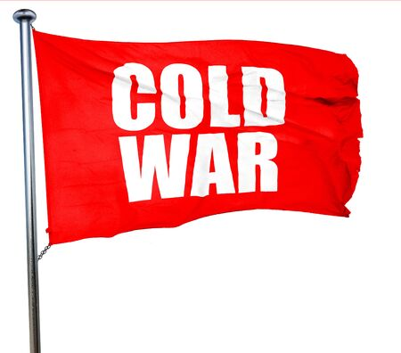 gorbachev: cold war, 3D rendering, a red waving flag Stock Photo