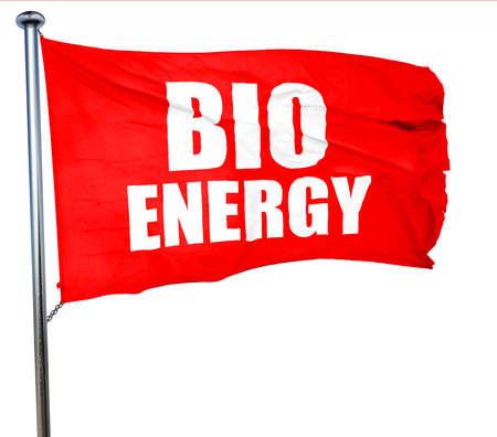 bio energy: bio energy, 3D rendering, a red waving flag